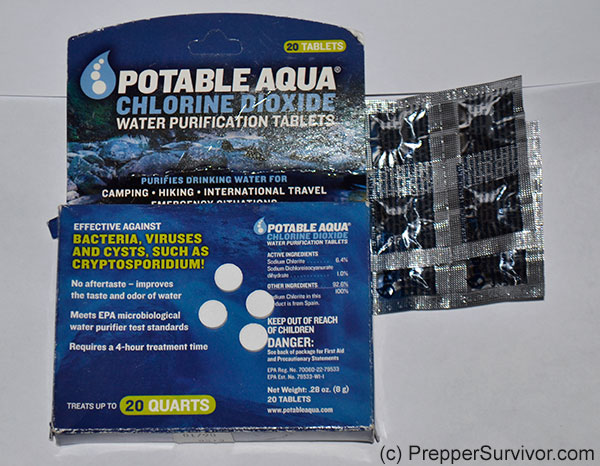 Portable Aqua Chloride Dioxide Water Purification Tablets