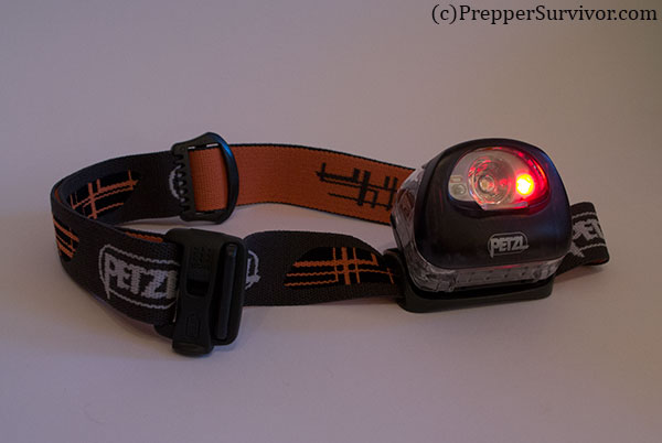 Petzl Tikka XP 2 has Red Light Mode to Preserve Night Vision
