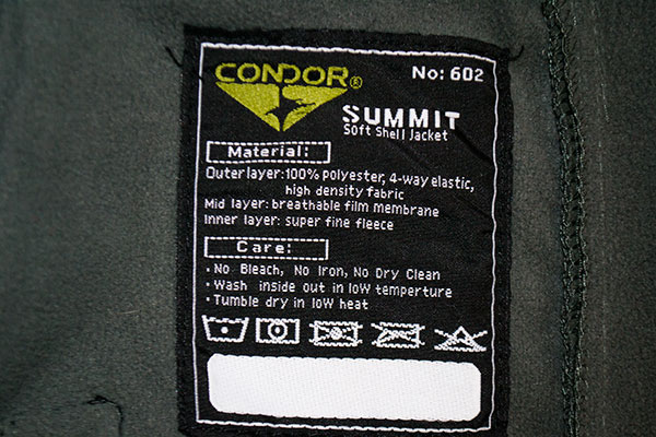 Condor Summit Jacket Features